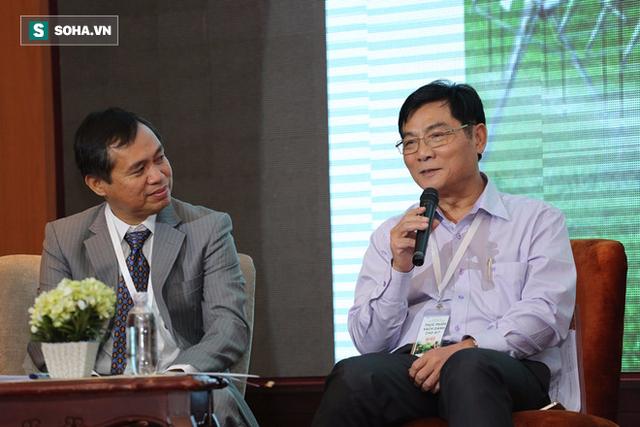 Tiến sĩ Trần Quang Trung thảo luận tại hội thảo do Soha News tổ chức.