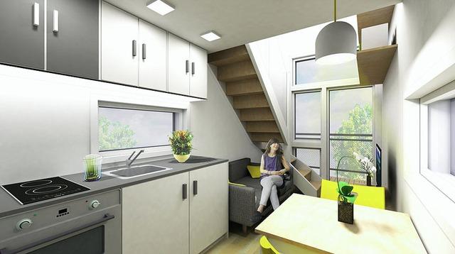 Mọi không gian trong ngôi nhà đều được bố trí linh hoạt và rất tiện cho người sử dụng.