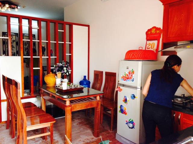 Một căn hộ đã được người dân đưa vào sử dụng.