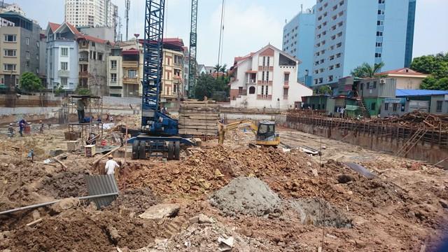 Dự án chung cư Thành An hiện đã bị dừng thi công.