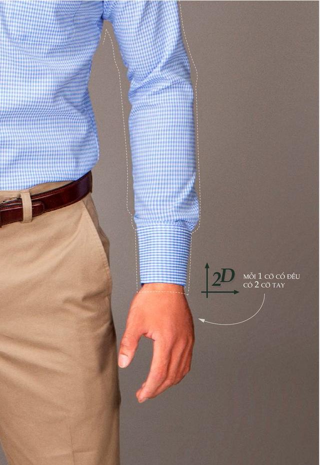 Nguyên lý 2D Shirt mang tới cho người mặc nhiều lựa chọn khi 1 cỡ cổ luôn có 2 cỡ tay.