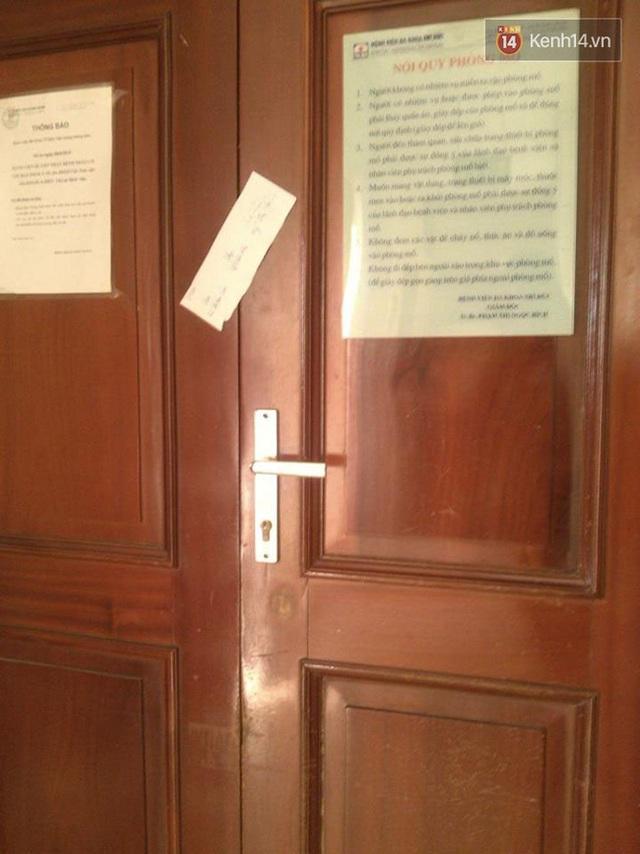 Phòng phẫu thuật ở tầng 8 của bệnh viện bị niêm phong phục vụ công tác điều tra.