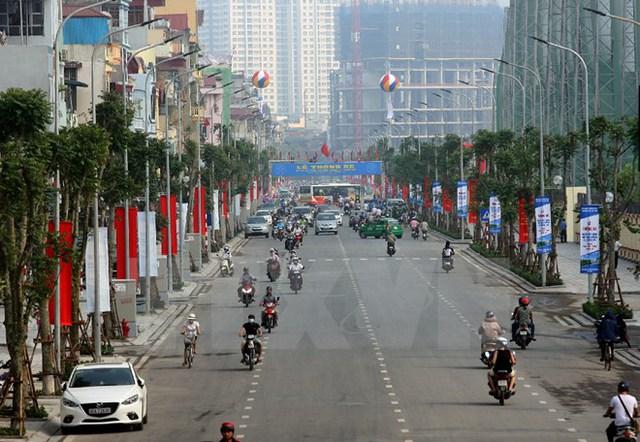 Đường Lê Trọng Tấn, Hà Nội. (Ảnh: Huy Hùng/TTXVN)
