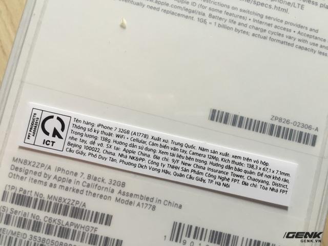 Tem nhập khẩu của ICT. Một điểm đáng chú ý là tem này được dán lên seal, chứ không phải là dán lên hộp như hàng VN/A