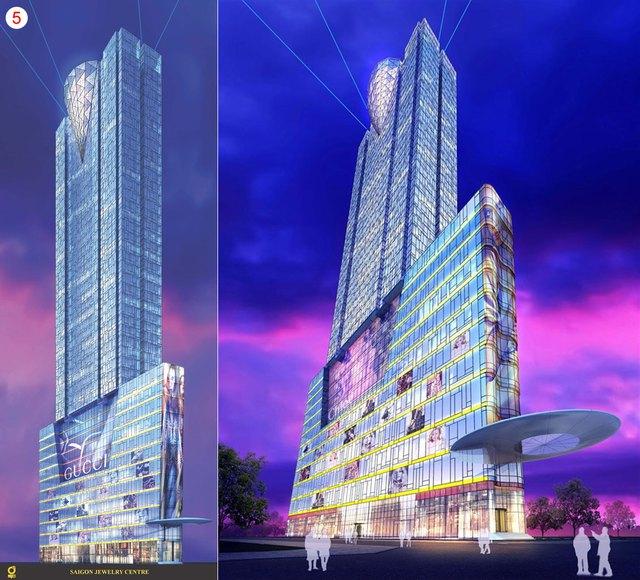 Tháp SJC do Công ty cổ phần Kim Cương làm chủ đầu tư với tổng vốn lên tới hơn 100 triệu USD, tọa lạc tại khu đất vàng có mặt tiền nằm trên các tuyến đường Lê Thánh Tôn - Nam Kỳ Khởi Nghĩa - Nguyễn Trung Trực - Lê Lợi (quận 1), trước kia là trung tâm thương mại quốc tế ITC.