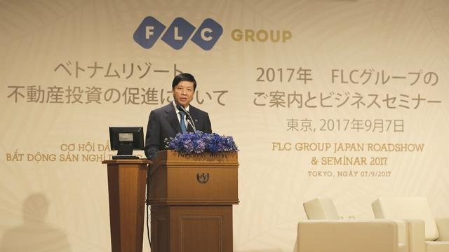 Ông Nguyễn Quốc Cường - Đại sứ đặc mệnh toàn quyền Việt Nam ở Nhật Bản phát biểu ở sự kiện.