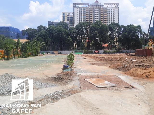 Trung tâm Thể thao Phan Đình Phùng (quận 3) đang được gấp rút xây dựng