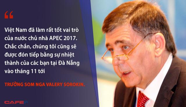 Việt Nam đã làm rất tốt vai trò của nước chủ nhà APEC 2017. Chắc chắn, chúng tôi cũng sẽ được đón tiếp bằng sự nhiệt thành của 1 số khách mua ở Đà Nẵng vào tháng 11 tới - Trưởng SOM Nga Valery Sorokin.