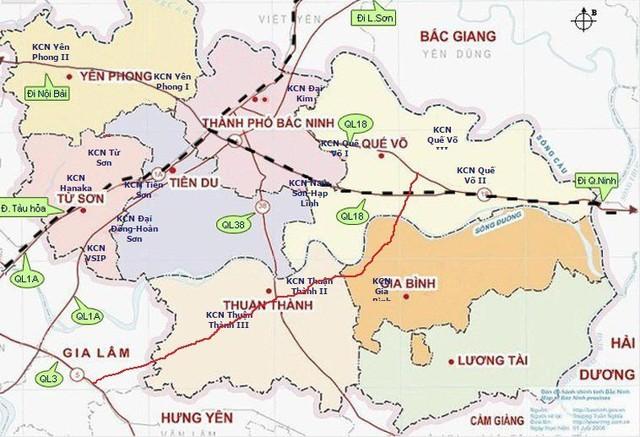 Bắc Ninh là tỉnh có mật độ khu công nghiệp rất cao.