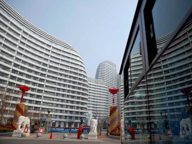 Khung cảnh ở Thành phố Đan Đông, Trung Quốc.
