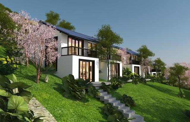Những khu biệt thự nghỉ dưỡng vùng đồi, núi ở phía Tây ven Thủ đô ngày càng đã được ưa chuộng (ảnh: biệt thự Lâm Sơn Resort).