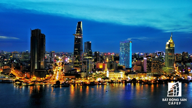 Từ Thủ Thiêm, nhìn về phía quận 1 không khác gì một Thượng Hải thu nhỏ.