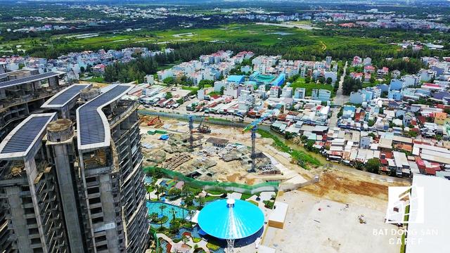 Một dự án có hơn 4.000 căn hộ cao tầng đang xây dựng trở lại có hạng mục khu phong cảnh, bến du thuyền và show nhạc nước 3 triệu USD.