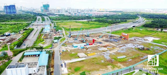 Mặt bằng thi công dự án Empire City của liên doanh Keppel Land - Tiến Phước - Trần Thái.