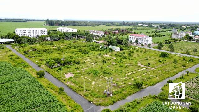 Dọc theo con đường Lê Hồng Phong là hàng loạt biệt thự có diện tích vài trăm m2 được xây thô rồi bỏ hoang lâu ngày.
