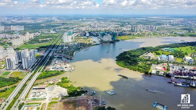 Cầu Thủ Thiêm 4 sẽ nối trực tiếp từ đường Huỳnh Tấn Phát (quận 7) sang đại lộ Mai Chí Thọ (quận 2)