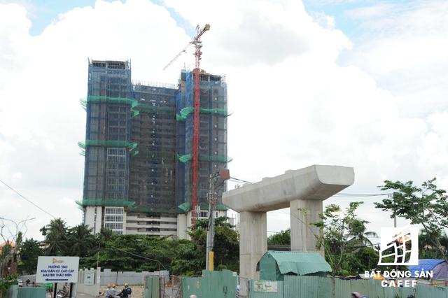 Một trong số 3 dự án của công ty Sơn Kim Land đang được xây dựng.