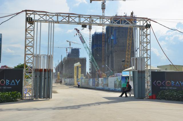 Khu vực chuẩn bị thi công 1 số con phố hầm nối từ dự án đến bờ biển 1 sốh đây chỉ gần 100m