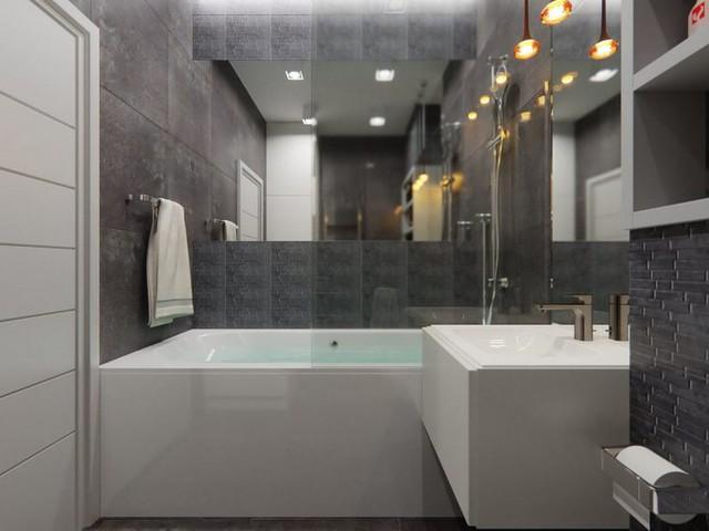 Chỉ với 10m2 vừa làm khu vệ sinh vừa làm nhà tắm nhưng góc nhỏ này lại được chủ nhà vô cùng quan tâm và tinh tế tạo cảm giác rộng thoáng không ngờ.
