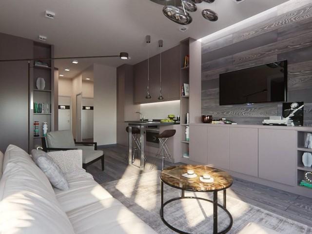 Từ lối vào không gian đầu tiên sẽ là nhà tắm, bếp, bàn ăn và cuối cùng là khu vực tiếp khách và nghỉ ngơi. Do diện tích hạn chế và dài nên chủ ngôi nhà bố trí các không gian chức năng dọc hai bên lối đi.
