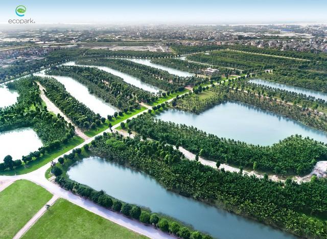 Chủ đầu tư Ecopark đang khởi động chiến lược chuyển hướng sang BDS hạng sang, khi cho thi công hơn 100 căn villa đảo hạng sang Ecopark Grand ở đó.