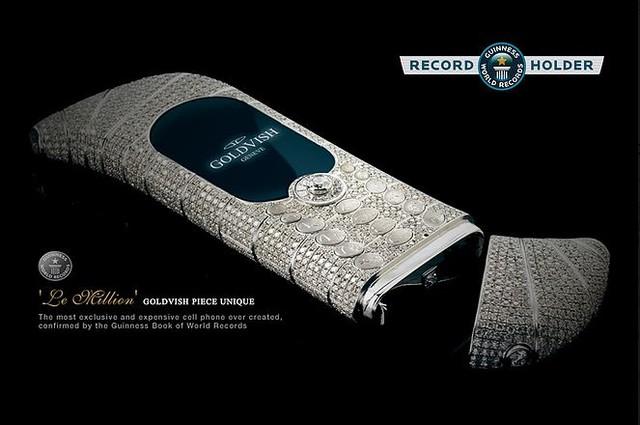 Goldvish Le million được Guiness công nhận là chiếc điện thoại đắt nhất thế giới.