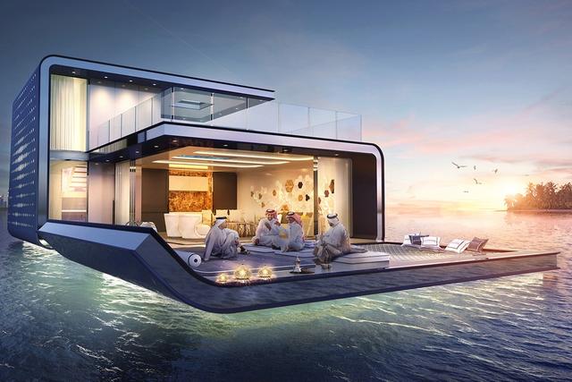 """Với kiến trúc """"3 chìm 7 nổi"""", tầng trệt của căn biệt thự rộng 371m2 sẽ chìm dưới mực nước biển, cho phép chủ nhân ngắm nhìn những rạn san hô tuyệt đẹp ngay trước mắt. (em đổi từ đơn vị feet vuông trong bài gốc)"""