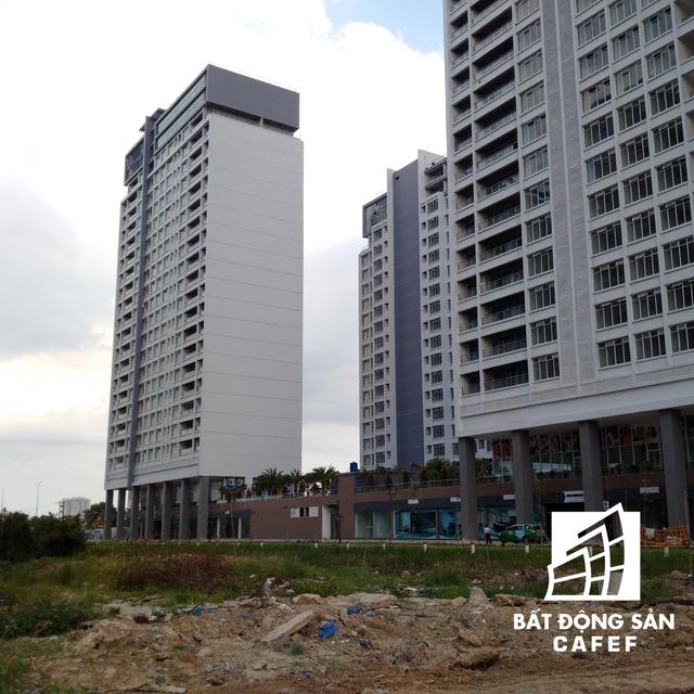 Diện tích bị phong toả gồm 4.708,5 m2 đất ở, 4.447,08 m2 đất công trình công cộng có kinh doanh và 6.165,28 m2 đất công viên cây xanh, mặt nước, giao thông sân bãi. Riêng diện tích đất đã thế chấp cho ngân hàng Bưu điện Liên Việt - chi nhánh TP.HCM sẽ không bị tạm dừng.