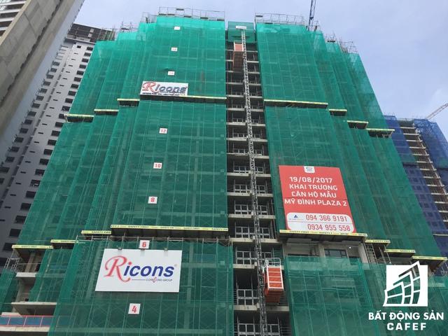 Hiện tại công trình đang xây đến tầng 22.