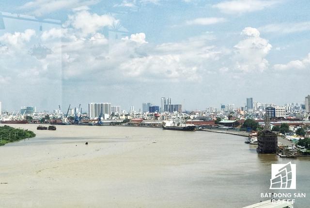 Vị trí sẽ xây dựng cầu Thủ Thiêm 4 đang được UBND TP.HCM trình Thủ tướng phương án lựa chọn nhà đầu tư