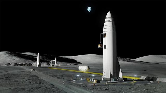 BFR có thể bay đến mặt trăng và trở về nhờ khả năng tiếp nhiên liệu trong không gian.