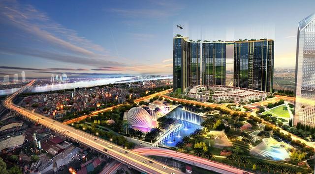 Phối cảnh dự án Sunshine City, 1 trong 5 dự án bất động sản nghìn tỷ của Sunshine Group đang triển khai thi công.
