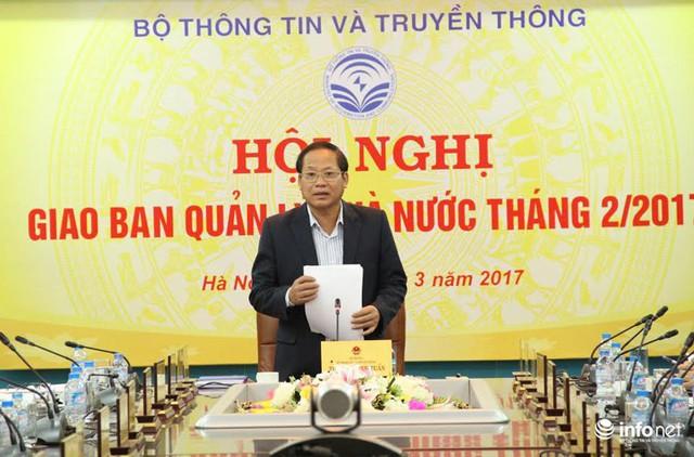 Ủy viên Trung ương Đảng, Bộ trưởng Bộ TT&TT Trương Minh Tuấn chủ trì Hội nghị.
