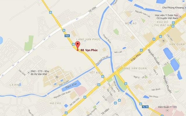Chung cư Goldsilk Complex tọa lạc tại trung tâm quận Hà Đông.
