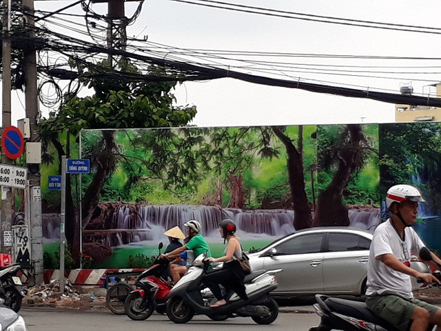 Khu Mả Lạng, đoạn giao giữa Cống Quỳnh - Nguyễn Cư Trinh.