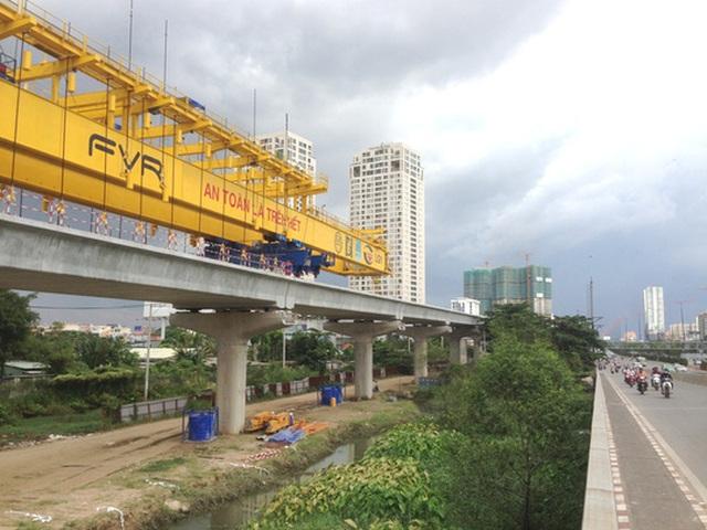 Tuyến metro 1 trên đường Xa lộ Hà Nội (Phan Anh)