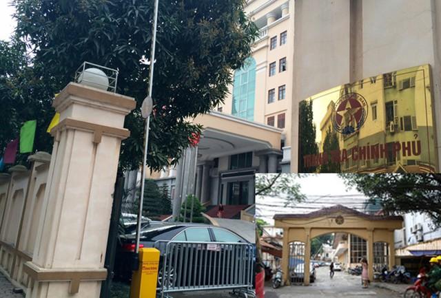 Trụ sở mới Thanh tra Chính phủ nằm ở lô D29 khu thành phố mới Trần Thái Tông - Yên Hòa - Cầu Giấy (ảnh lớn); Trụ sở cũ Thanh tra Chính phủ nằm ở số 222 Đội Cấn (ảnh nhỏ). Ảnh: Như Ý.