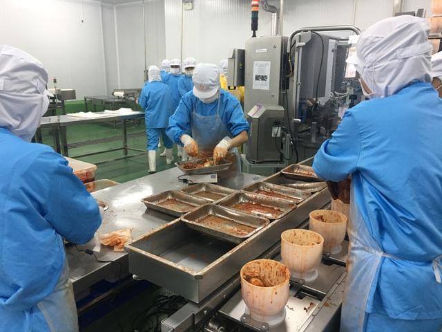 Quy trình sản xuất kim chi trong nhà máy chế biến thực phẩm mới khánh thành của Redsun ITI