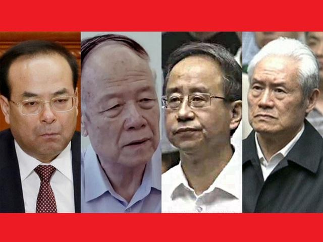 Từ trái qua: Tôn Chính Tài, Quách Bá Hùng, Lệnh Kế Hoạch, Chu Vĩnh Khang Ảnh: SCMP
