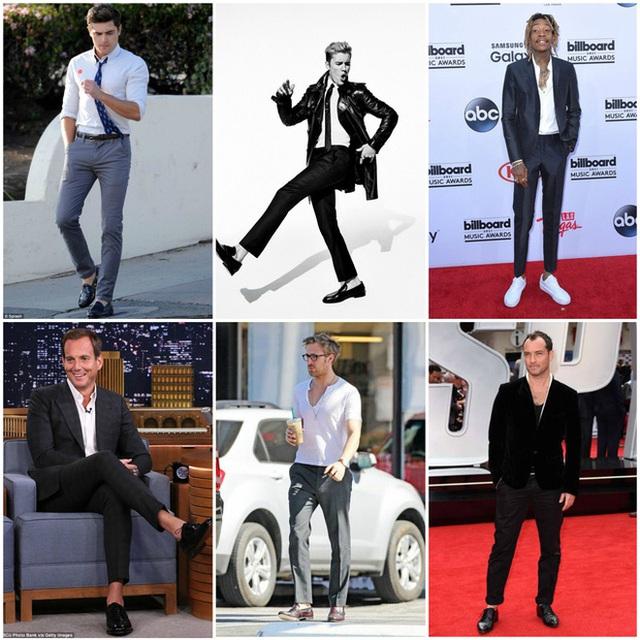Nhiều ngôi sao nổi tiếng thế giới rất thích sockless style khi đi giày