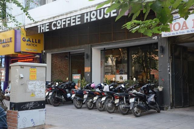 Cửa hàng cafe nơi xảy ra sự việc.