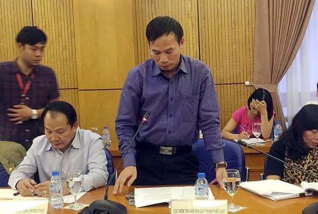 Ông Đồng Ngọc Ba - Cục trưởng Kiểm tra văn bản quy phạm pháp luật.