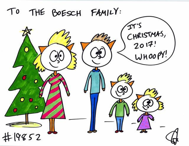 Bức tranh số 19.852 Steve vẽ cho gia đình Boesch.