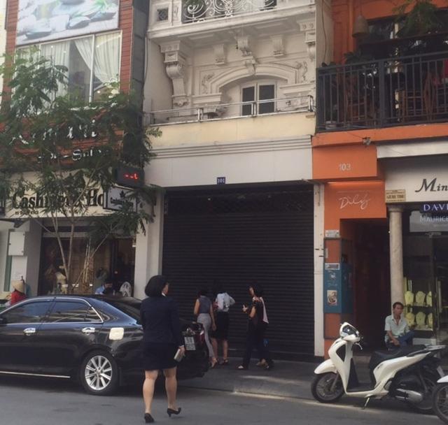 Cửa hàng Khaisilk ở 101 Đồng Khởi Quận 1 đã đóng cửa trước khi có công bố kết luận vi phạm của Bộ công thương
