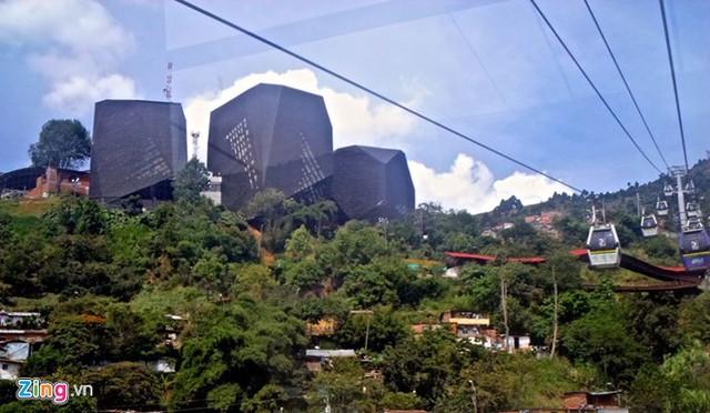 Hệ thống cáp treo của thành phố Medellin (Colombia). Ảnh: Uncovercolombia.com