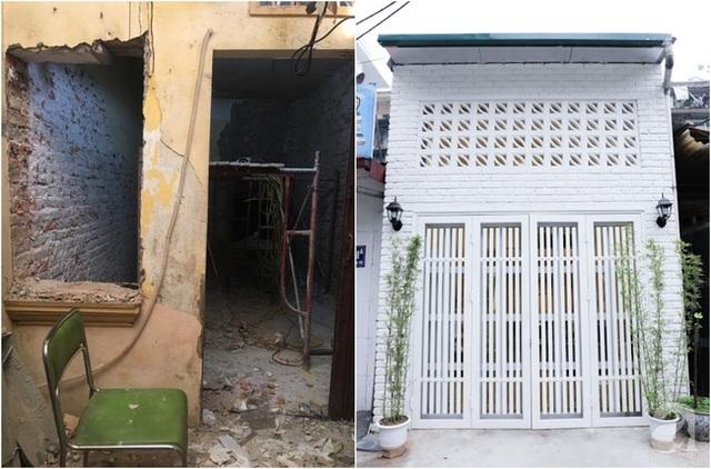 Hình ảnh mặt tiền trước và sau khi cải tạo.