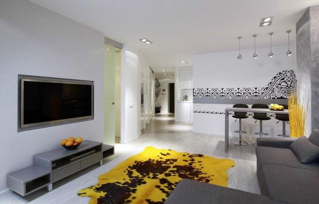 Thiết kế lạ mắt giúp căn hộ 54m2 rộng thoáng đến không ngờ.