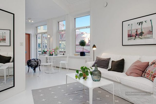 Dù chỉ là 1 căn hộ chung cư nhỏ có tổng diện tích vỏn vẹn 50m2 nhưng không gian nội khu lại được kiến trúc vô cộng tiện nghi, tân tiến.