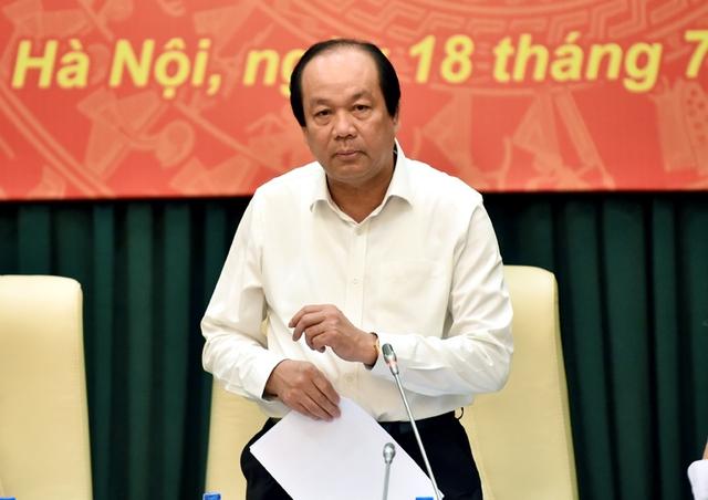 Bộ trưởng, Chủ nhiệm VPCP Mai Tiến Dũng phát biểu kết luận buổi kiểm tra. - Ảnh: VGP/Nhật Bắc