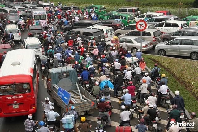 Tình hình kẹt xe tại cửa ngõ Tân Sơn Nhất vào 20/7 vừa qua